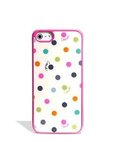 Coach Multi Color Dot Case for Iphone 5: Cell Phones  Accessories