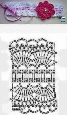 Banda Para El Cabello A Crochet Crochet - Diy Crafts Crochet Headband Pattern, Crochet Lace Edging, Crochet Hats, Crochet Flowers, Crochet Stitches Patterns, Knitting Patterns, Diy Crafts Crochet, Crochet Accessories, Crochet Clothes