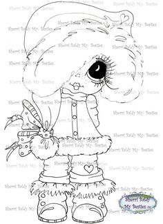 Sherri Baldy Digi Stamps You can adopt this Bestie :-) ******Have fun crafting****** This is for the black and white line art digi stamp