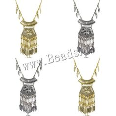 Fashion Fringe Necklace, Zinc Alloy, with 2Inch extender chain, Leaf, plated, twist oval chain, more colors for choice