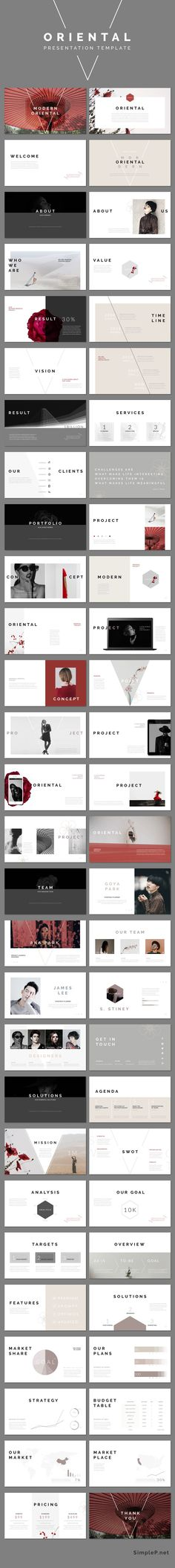 Oriental PowerPoint Presentation Template #ppttemplate #oriental #modern #business #marketing #portfolio #powerpoint