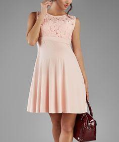 Look at this Elpasa Light Pink Areta Maternity Dress on #zulily today!