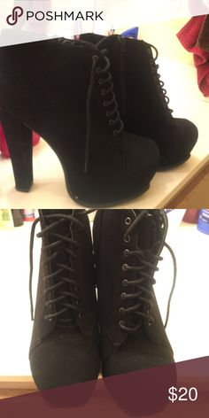 Black beautiful heels Used once great condition Shoes Platforms