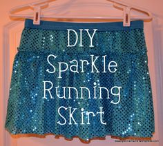 DIY Sparkle Running Skirt