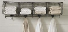 Bathroom shelves over toilet decor door storage Ideas Hang Towels In Bathroom, Bathroom Towel Storage, Bathroom Kids, Basement Bathroom, Wall Storage, Bathroom Shelves, Storage Ideas, Bathroom Organization, Bath Shelf