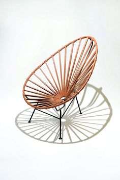 The Mexa Acapulco Lounge Chair in leather, incorporates modern, long-lasting materials. Its woven seat is crafted by skilled artisans using traditional Mexican craftsmanship. Diy Furniture, Furniture Design, Acapulco Chair, Home Furnishing Accessories, Mid Century Modern Armchair, Leather Lounge, Chair Design, Outdoor Chairs, House Design