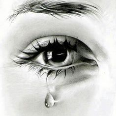 Pencil sketch of my eye doing this