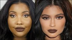 61 Ideas Makeup Lips Brown Kylie Jenner For 2019 Dark Skin Makeup, Makeup For Brown Eyes, Makeup Lips, Kylie Jenner Makeup Tutorial, Lip Makeup Tutorial, Makeup Artist Humor, Yellow Makeup, Learn Makeup, Brown Lip