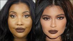 Kylie Jenner | Makeup Tutorial | Brown Lips {WOC}