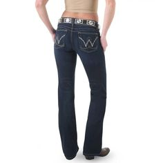 Wrangler Women's Booty Up Western Jeans