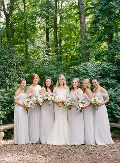 Photography: Heather Waraksa - heatherwaraksa.com Floral Design: Rebecca Shepherd Floral Design - http://rebeccashepherdfloraldesign.com Bridesmaids' Dresses: Amsale - http://amsale.com   Read More on SMP: http://www.stylemepretty.com/2016/05/04/new-york-outdoor-garden-wedding/