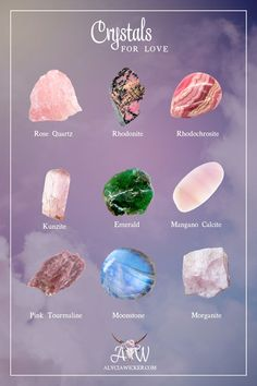Crystals for attracting love into your life and for yourself.
