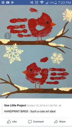 Knox ❤️ Trendy Bird Crafts For Toddlers Baby Hand Prints Ideas How To Look White-Hot This Season Summer Crafts For Toddlers, Christmas Crafts For Kids, Diy For Kids, Xmas Crafts, Bird Crafts Preschool, Baby Crafts, Toddler Art, Toddler Crafts, Realistic Bird Tattoo