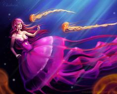 Image result for pink jellyfish