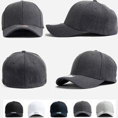 New Unisex Mens Womens Plain Solid Flexfit Stretch Fit Baseball Spandex Cap Hats #hellobincomAll #BaseballCapHats