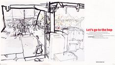 lucinda rogers illustration independent watercolour ink hop farm festival back stage