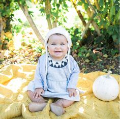 How adorable does this little one look in our cashmere Ingrid dress? Thank you Mini Style blog!
