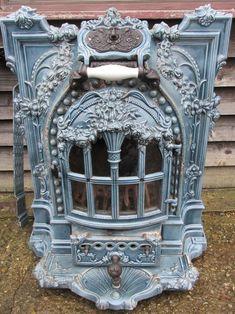 ♥ ~ ♥ Blue and White ♥ ~ ♥ Antiques Atlas - Art Nouveau French Enamel Stove