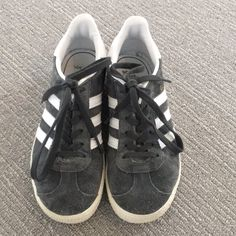 8305f6b1a7453 adidas Shoes | Adidas Gazelle Grey Sneakers | Color: Gray/White | Size: