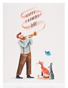 Greeting Card - Happy Father's Day Trumpet