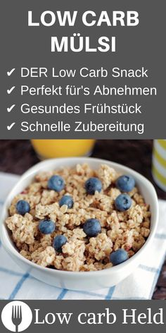 You have to know this low carb muesli! - You have to know this low carb muesli! You have to know this low carb mues - Muesli, Low Carb Recipes, Diet Recipes, Healthy Recipes, Recipes Dinner, Asian Recipes, Easy Recipes, Keto Foods, Low Carb Breakfast