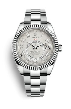 Discover the Sky-Dweller watch in 18 ct white gold on the Official Rolex Website. Model: 326939