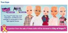 Bratz & Moxie Launch True Hope Dolls at Toys R Us, think this is one of the greatest ideas ever...every person deserves a doll that looks like them, with or without hair