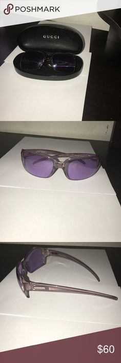 Gucci Light Purple Sunglasses In good condition a few scratches on lenses but still in good condition. Sunglasses are a very light purple color Gucci Accessories Sunglasses