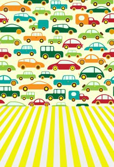 Cartoon cars printed toy backdrops for baby photo  Art fabric lovely newborn backdrop for studio photography background D-9934