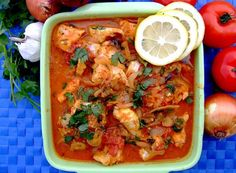 Curried Fish -(Mchuzi Wa Samaki) I think I will hold the fish and try chicken. Used to eat it all teh tiem in Tanzania.