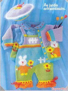 """Ev Moms - Online birlikte örme - bebek """"Bunny"""" Suit"""