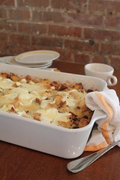 Creole Breakfast Bread Pudding is a hearty breakfast casserole - perfect for the Easter brunch crowd