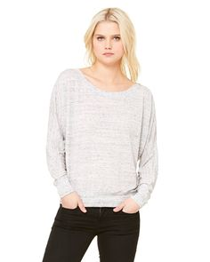 0edb86272 Bella + Canvas Ladies' Flowy Long-Sleeve Off Shoulder T-Shirt