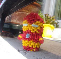 Chibi Ironman - 3D origami by SophieEkard.deviantart.com on @deviantART