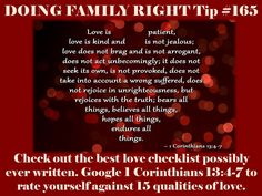 Tip 1 Corinthians a love checklist! Intimacy In Marriage, Spiritual Connection, Love Is Patient, Jealous, Spirituality, Romance, Tips, Romances, Advice