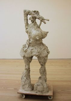 She by Rebecca Warren,Saatchi Gallery London. Artists who use unfired clay