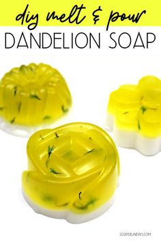 This dandelion soap recipe is an easy melt and pour soap beginners can make using dandelion infused oil to incorporate into a natural skin care routine. Dandelion Oil, Dandelion Benefits, Liquid Soap Making, Melt And Pour, Natural Beauty Recipes, Homemade Soap Recipes, Recipes For Beginners, Home Made Soap, Beauty Regimen