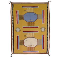 Sandpainting Pictorial Navajo Weaving : Ester Benally : 3070