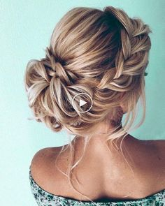 Braided hairstyles: gorgeous wedding hairstyles ideas for you Classy Hairstyles, Simple Wedding Hairstyles, Top Hairstyles, Bride Hairstyles, Updo Hairstyle, Hairstyle Ideas, Hair Ideas, Fringe Hairstyle, Hair