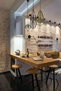 10m2-es konyha modern stílusú berendezése piros, fehér, fekete ...