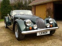 "Timeless Morgan Plus 8.. the perfect ""air-in-the-hair"" car for an early morning drive on a winding country road.."