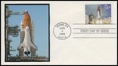 """2544A / $10.75 Endeavour Shuttle Taking Off Express Mail 1995 """"Add-On"""" FDCO First Day Cover Endeavor Shuttle, First Day Covers, One Day, Space, Floor Space"""