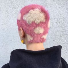 Dreamy pink cloud buzzcut by @mateydesr #hairinspo #pinkhair