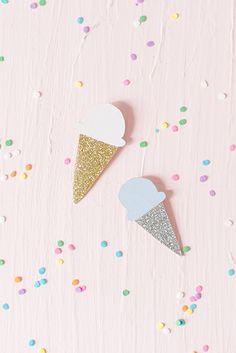 DIY Ice cream brooch by Carnets Parisiens