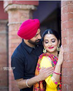 Image may contain: 2 people, people standing Punjabi Wedding Couple, Indian Wedding Couple Photography, Punjabi Couple, Couple Photography Poses, Pre Wedding Photoshoot, Wedding Shoot, Wedding Couples, Farm Wedding, Boho Wedding