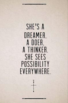 dreamer.doer.thinker.