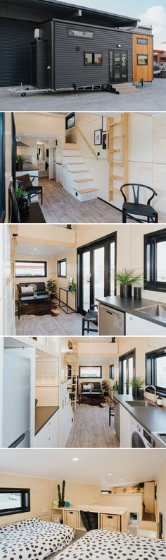 From New Zealand tiny house builder Build Tiny is the Kingfisher Tiny House, a completely off-grid model custom built for a client that will use it as a holiday home on a beach north of Auckland. beach Kingfisher Tiny House by Build Tiny - Tiny Living Tiny House Exterior, Tiny House Builders, Tiny House On Wheels, Small House Plans, Tyni House, Tiny House Living, Living Room, Home Design, Tiny House Design