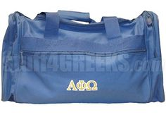 ALPHA PHI OMEGA DUFFEL BAG, ROYAL BLUE  Item Id: PRE-DUFL-AFW-LTR-RBLU    Price: $39.00
