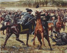 "June 9, 1863 – The Battle of Brandy Station.  As the Army of Northern Virginia, under the command of General Robert E. Lee, started moving northward to take the war to the Union, General J.E.B. Stuart was tasked to use the Confederate cavalry to screen this movement from Union scouts. But the Federals soon learned of a large rebel presence in area around Culpeper Court House, near a train depot named ""Brandy Station."""