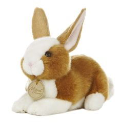 """This beautiful and realistic stuffed 8"""" Brown Bunny makes a perfect gift for any rabbit lover! Fine quality, exceptional detail and soft to the touch, Aurora's Miyoni line captures the beauty of natur"""